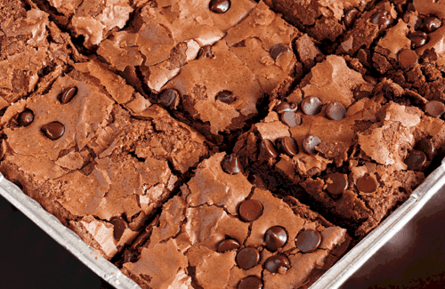 Amanda's Dairy-free, Nut-free, Egg-free, Chocolate Chip Brownies